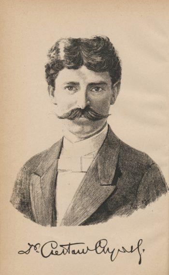 Młody Czesław Czyński (grafika z 1889 r.)