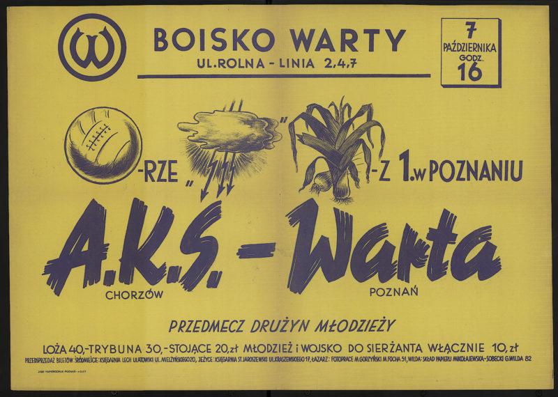 7 października godz. 16 A.K.S. Chorzów - Warta Poznań
